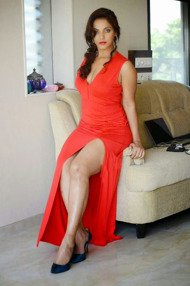 Neetu-Chandra-Hot-in-Red-Dress-Photos-03